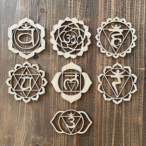 7 Wooden chakras