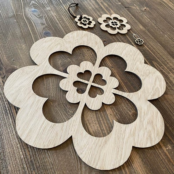 """Wooden table decoration set """"ISIS"""""""