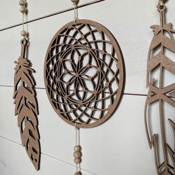 Atrapasueños de madera Sioux