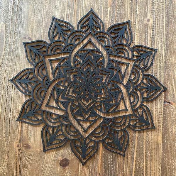 Wood mandala KALI
