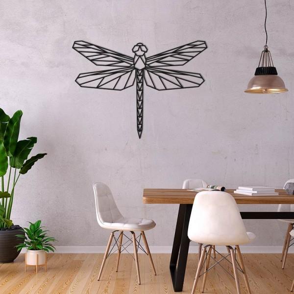 Figura geometrica  libélula madera