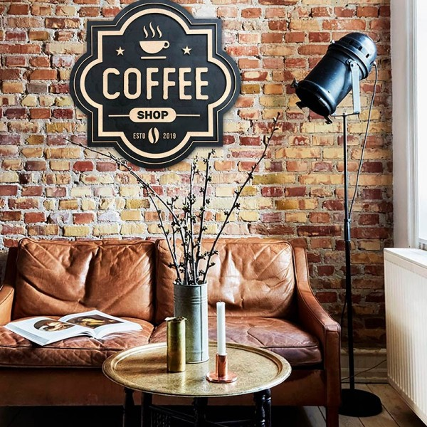 Wooden picture COFFEE