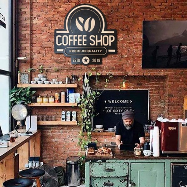 Cuadro madera COFFEE SHOP
