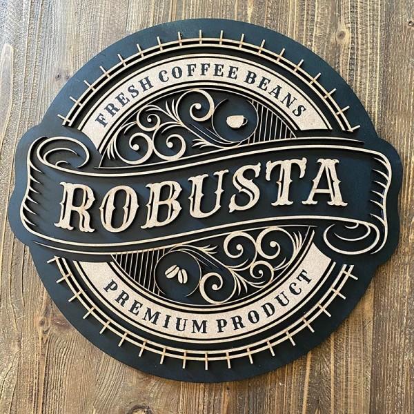 cuadro madera COFFEE ROBUSTA