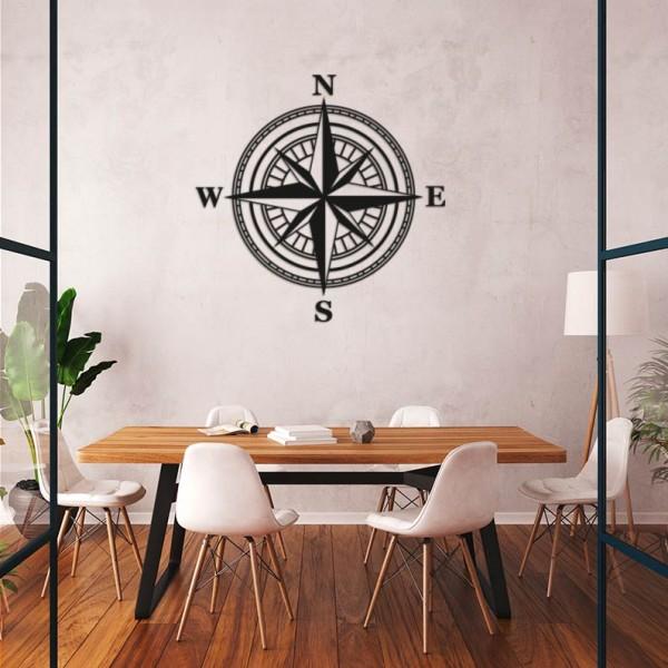 Wooden compass rose