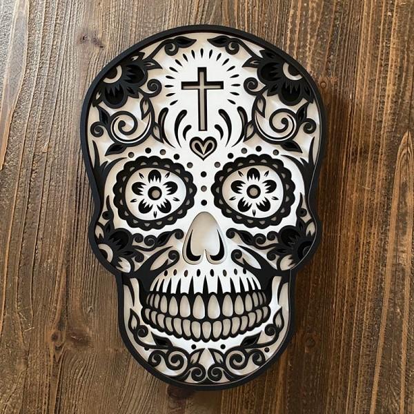 Sugar skull de madera