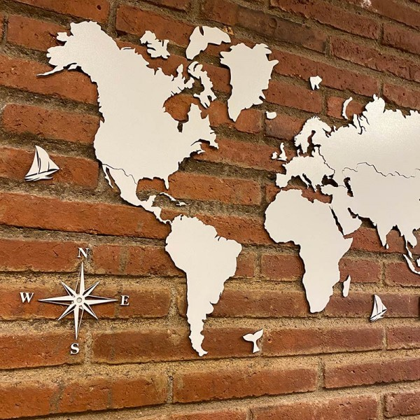 Mapa del mundo den DM blanco