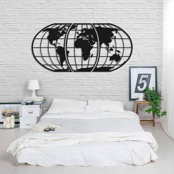 Mapamundi globo de madera para pared