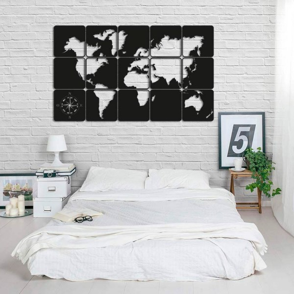 Mapamundi quadres de fusta per paret