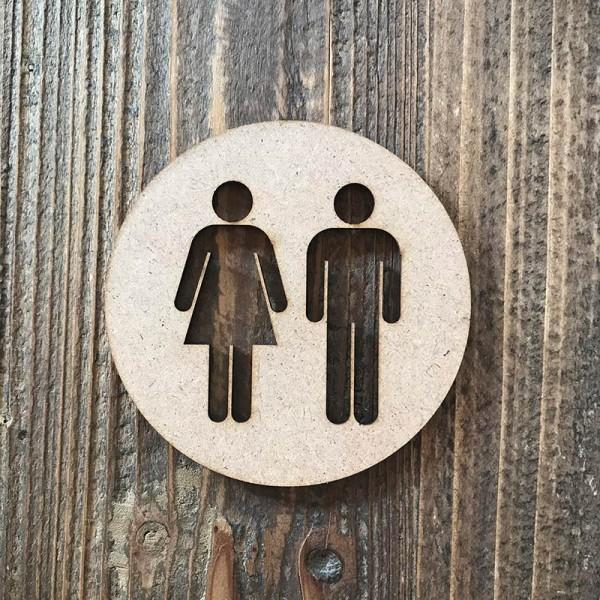 """Señal WC """"hombre-mujer 01"""""""