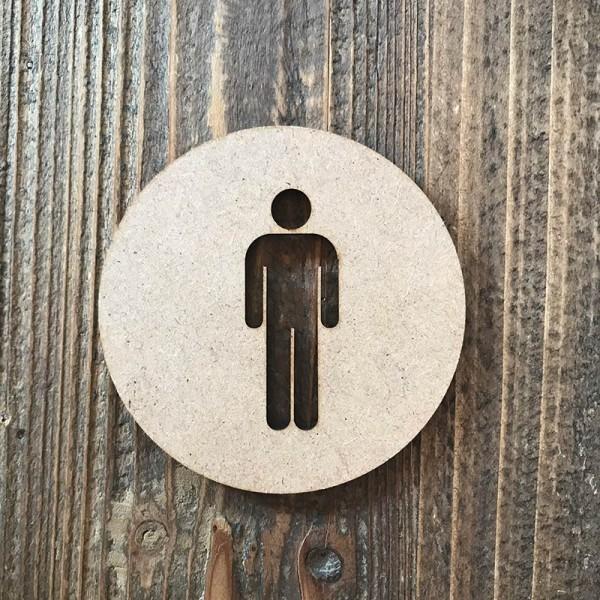 """Señal WC """"hombre 01"""""""