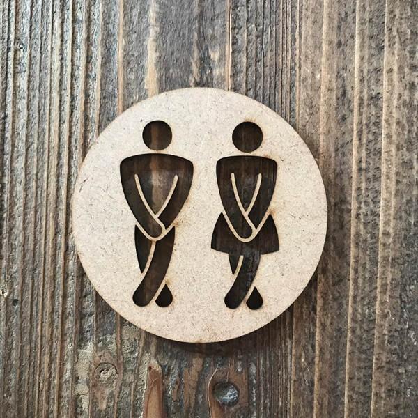 """Señal WC """"hombre-mujer 02"""""""