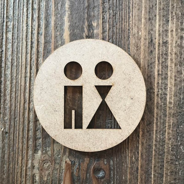 """Señal WC """"hombre-mujer 03"""""""