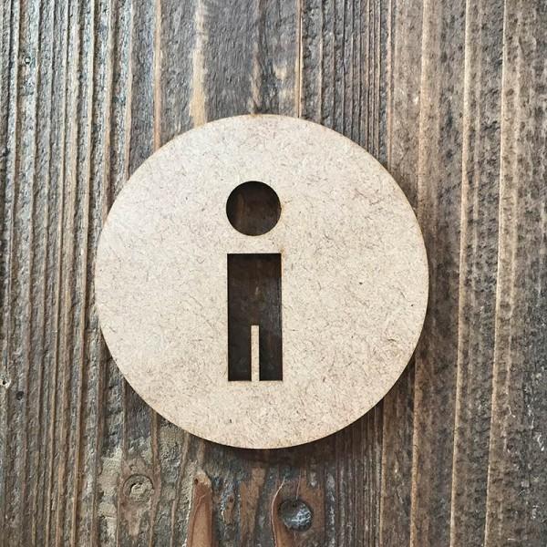 """Señal WC """"hombre 03"""""""