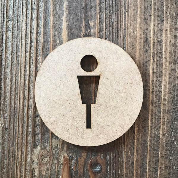 """Señal WC """"hombre 04"""""""