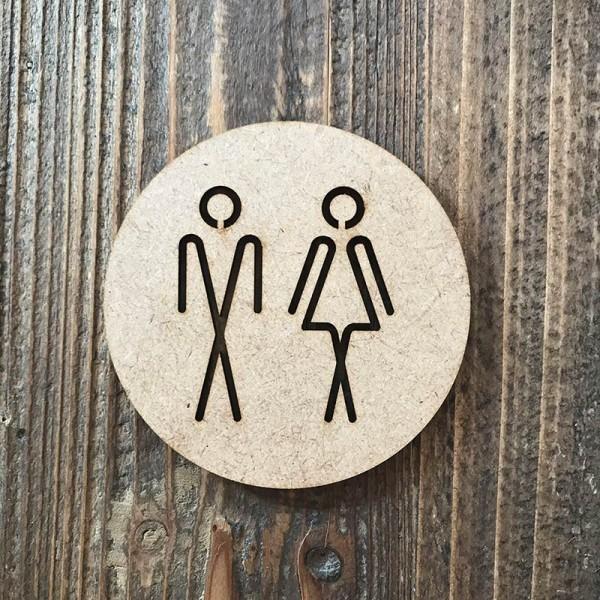 """Señal WC """"hombre-mujer 05"""""""