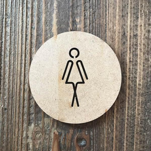 "Señal WC ""mujer 05"""