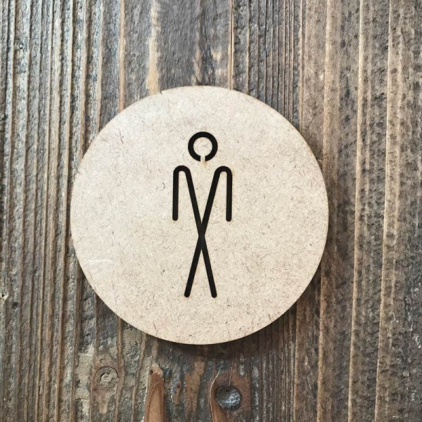 """Señal WC """"hombre 05"""""""