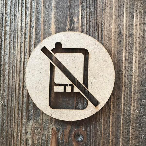 Señal prohibido móviles