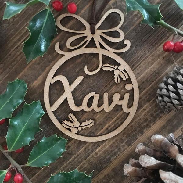 Adorn de Nadal personalitzat- bola-...