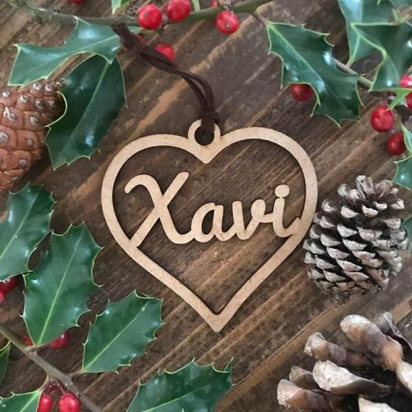 Adorn de Nadal personalitzat - cor