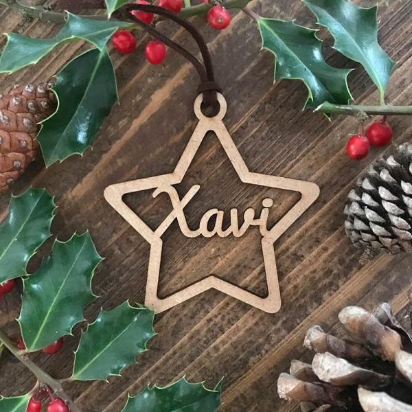 Adorn de Nadal personalitzat - estrella