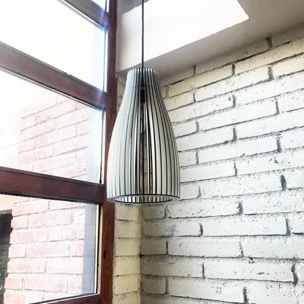 Lámpada de fusta SALGUER - blanca