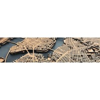 Mapes de ciutats de fusta
