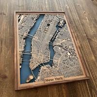 Wooden city maps