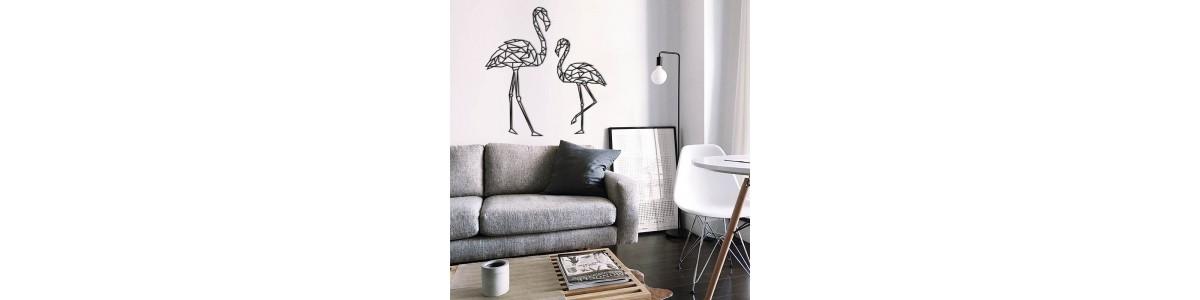 Figuras geométricas de madera para decorar pared